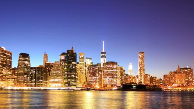 Time Lapse 4 K: vista di Manhattan
