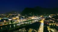 4K Time Lapse : view of Salzburg