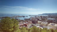 Time lapse views of the city of Denia