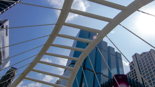 Zeitraffer: wakling juction Brücke in Sathorn, Bangkok, Thailand