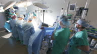 TIme lapse Wide Angle Surgical procedure in operating  room