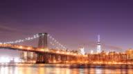 4K Time Lapse : Williamsburg Bridge