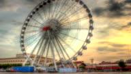 Time Lapse,amusement park Crowd Plaything Ferris Wheel