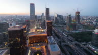 Time Lapse-Beijing Central Business District from Day to Night