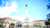 Time lapse:Column of Pedro IV  in Lisbon, Portugal.