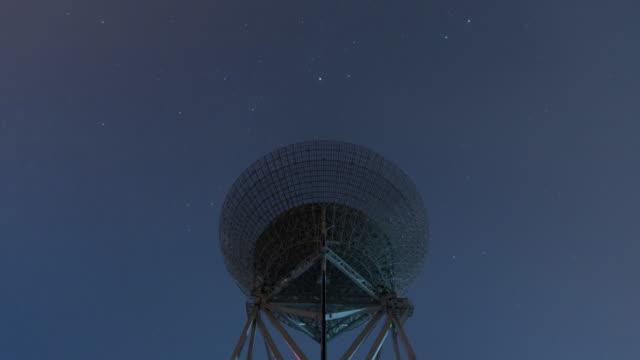 Time lapse-Radio telescope and Milky way