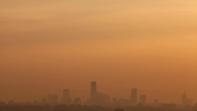 Time Lapse-Scenery of sunrise in Beijing