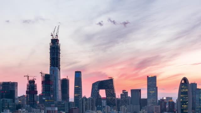 Tijd Lapse-zonsondergang van Peking