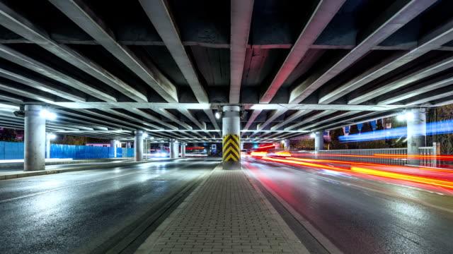 Time Lapse-Urban highway traffic