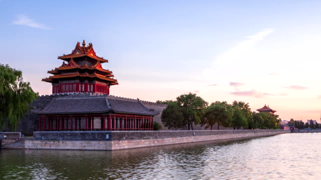 time laspe—forbidden city at sunset