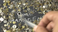 Time Management Concept Via uurwerk onderdelen