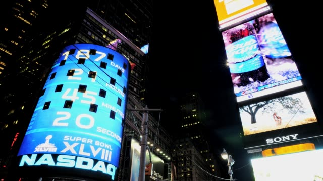 LAPSE Time Square 42nd Street Broadway Advertisements NASDAQ Midtown Manhattan New York City USA TIME LAPSE Time Square New York City on June 29 2013...