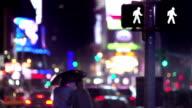 Time Square a piedi coppia