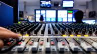 Timeapse broadcasting studio.