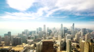HD Time-lapse: Aerial Chicago Skyline Cityscape USA
