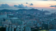 HD-Zeitraffer: Aerial Hong Kong Kowloon Aktion
