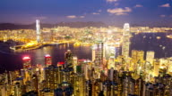 HD Time-lapse: Aerial Hong Kong Skyline Cityscape
