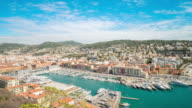 4K Time-lapse: Aerial Nice Marina Port French Riviera France