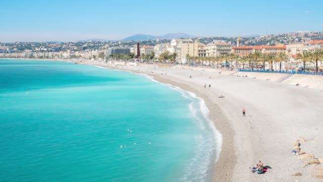 4K Time-lapse: Aerial View of Nice Harbour French Riviera France