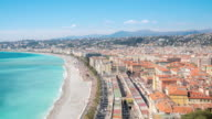Time-lapse: Aerial View of Nice Harbour French Riviera France