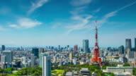 4 K Time-lapse: Flygfoto Tokyo stadsbild Japan