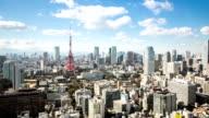 HD-Zeitraffer:  Luftaufnahme Tokyo tower Japan