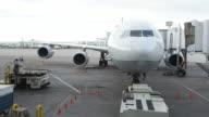 Zeitraffer Flughafen Gate & Jetliner