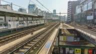 Timelapse: Akihabara station Platform Tokyo, Japan