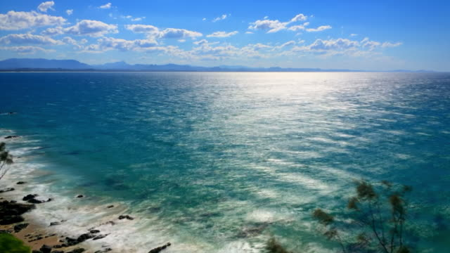 Timelapse at Byron Bay, sea and mountains views New South Wales, Australia
