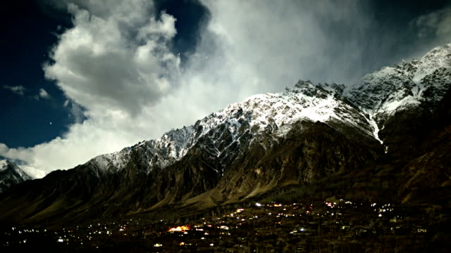 timelapse at night in Hunza Valley Pakistan