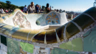 BARCELONA: TimeLapse at Parc Guell in Barcelona