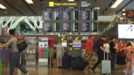 HD-Zeitraffer in Singapur Flughafen