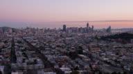 SAN FRANCISCO: TimeLapse at sunrise of San Francisco skyline from Bernal Heights Park