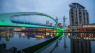MANCHESTER: TimeLapse at sunset of the media city centre