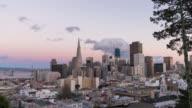 SAN FRANCISCO: TimeLapse at sunset of the San Francisco Skyline