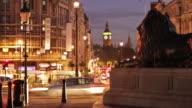 Time-lapse at Trafalgar Square featuring Big Ben in London