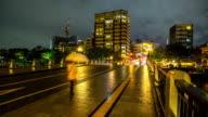 4K Time-lapse: Atomic Dome ruins along Otogawa River Hiroshima downtown