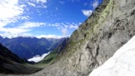 Time-lapse: Austrian Alps in Stubaital in summer