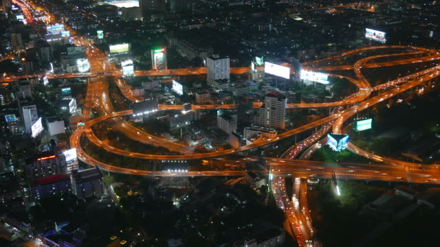 HD Timelapse bangkok city at night