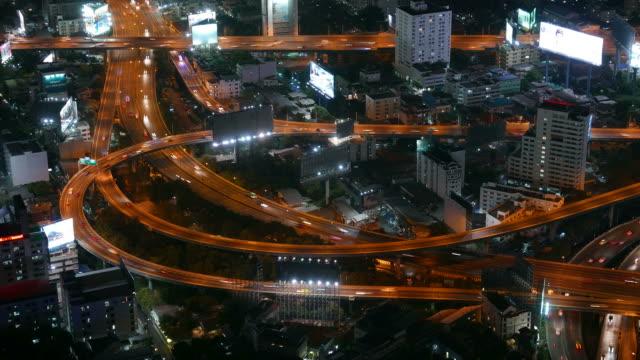 HD Timelapse bangkok city at night