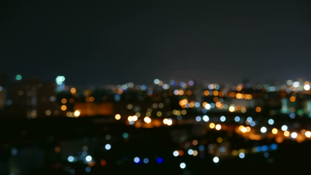 Timelapse bokeh night light