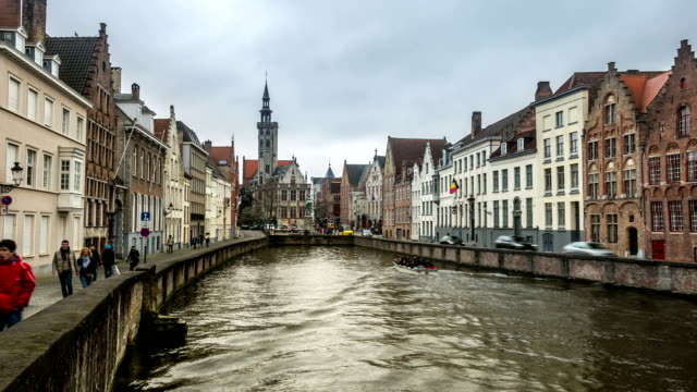 HD time-lapse: Bruges Canal Belgium