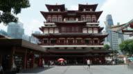 Timelapse-buddha tooths Tempel in Singapur
