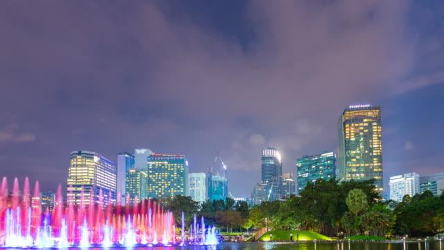 4K Timelapse: Building and skyscraper in Kuala Lumpur city.