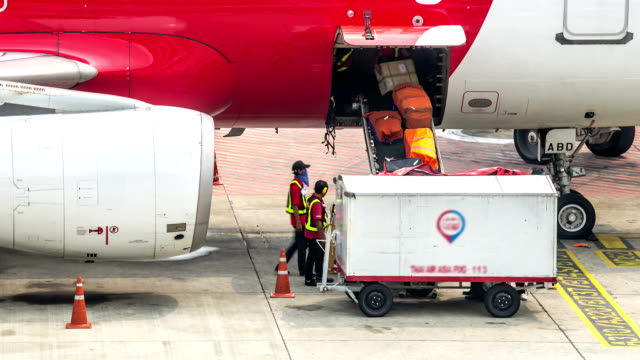 HD Time-lapse: Cargo loading air freight logistic