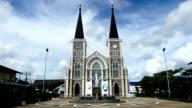Zeitraffer-Kathedrale in Thailand