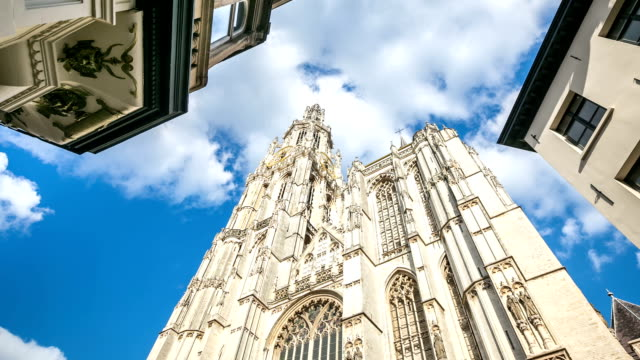 HD Time-lapse: Cathedral of Our Lady Antwerp Antwerp Belgium