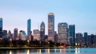 HD time-lapse: Chicago Skyline Cityscape sunset USA