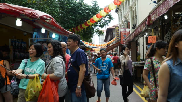 Timelapse China town at singapore