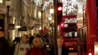 Time lapse Natale London street CH URB